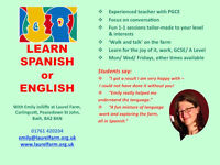 Learn Spanish and English at Laurel Farm, near Bath/ Radstock