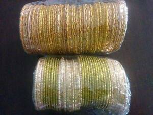 Indian style gold coloured sparkly bracelets Valentine Lake Macquarie Area Preview