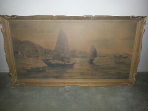 Hand Painted Painting painted in 1965 good shape $ 150 firm
