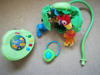 Fisher Price Rainforest Musical Cot Mobile with remote