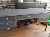 shabby chic grey stag dressing table for sale