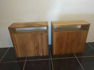 2x wooden bedside side cabinet tables Macquarie Park Ryde Area Preview