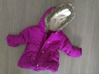 cute coat jacket warm F&F 3-6 month excellent condition / zara nike h&m