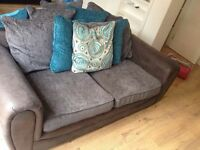 3 seater and corner with footstool
