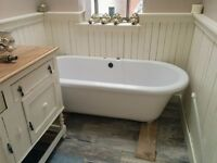 FREE STANDING ACRYLIC BATH with taps