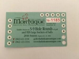 Montague Golf Punch Card