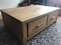 Solid Oak Coffee Table: £100