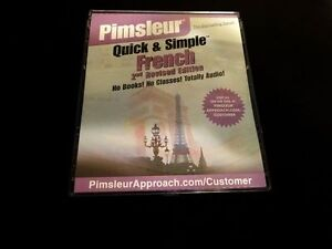Pimsleur learn French Quick and simple Audio CD