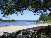 Lakefront Cottages, Sandy Beach, Boat Rentals