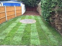 Turfing, fencing, tree surgery - all aspects of garden &a tree work including ground maintenance