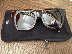 "WOMENS CELINE ""STRAT"" SUNGLASSES: TURTOISE COLOUR"