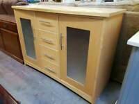 Modern four drawer sideboard