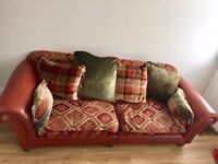 ** LARGE COUNTRY STYLE LEATHER SOFA** OFFERS ACCEPTED