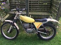 1978 Beamish Suzuki RL250 classic trials bike, V5 and spares.