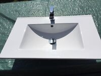 Kitchen and Bathroom Sinks c/w Taps. As new!
