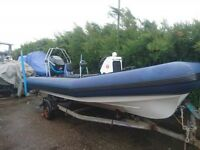 Carson Rib & Trailer - 4 Stroke115HP Mercury Outboard Engine - Built in fuel Tanks