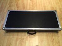 Custom built guitar pedal board keyboard flight case (see description for measurements)