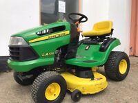 "John Deere LA105 19.5HP Ride On Lawn Mower Tractor 42"" 109cm Cutting Deck 81Hour"