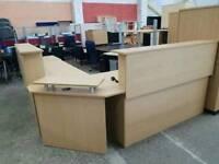Large office reception desk