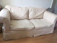 Cream sofa + spare set of washable covers!!