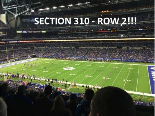 2 TIX INDIANAPOLIS COLTS vs TAMPA BAY BUCCANEERS 2021-LODGE LEVEL SIDELINE ROW 2