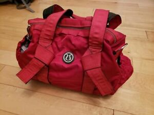 Posting for a friend. Lululemon red mini DTB Duffel bag.