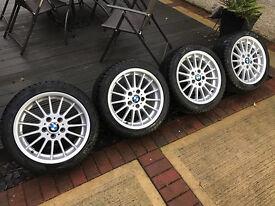 """17"""" BMW """"Style 32"""" alloy wheels - BBS / Ronal / Pirelli winter tyres 225/45/17"""