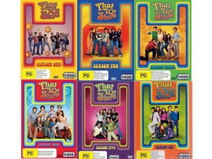 THAT '70s SHOW – SEASONS ONE TO SIX (PG) DVDS $36.00