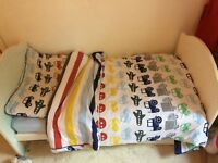 Mama's and Papas Amie Cot Bed - White wood, good condition