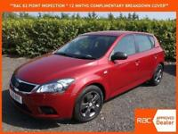 2010 Kia ceed 1.4 Strike Beautifull metallic burgandy only 53,000 miles WARRANTY