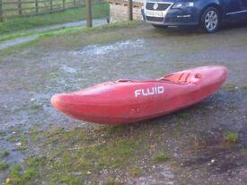 Fluid solo kayak