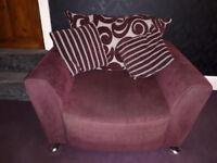 Purple DFS armchair - FREE sofa