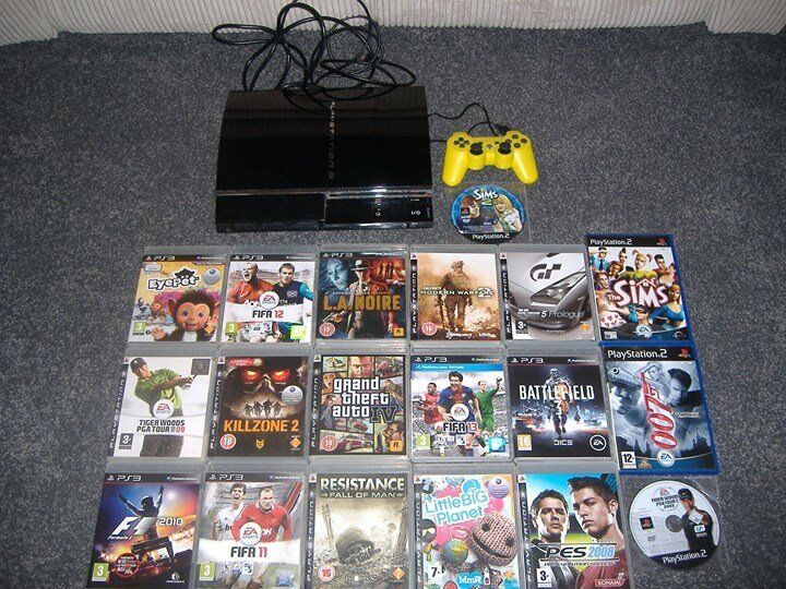 sony playstation 3 , 60 gb harddrive,also plays ps1 and ps2 games, package  | in Selsey, West Sussex | Gumtree