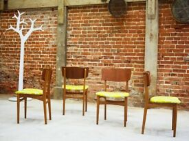 Upcycled Set (4) of Vintage Dining Chairs