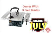 DRAPER 82570 250MM 1800W 230V EXTENDING TABLE SAW 3 FREE BLADES 82570_BTS255_3BLADES_991704