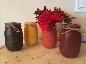 Fall colored jars
