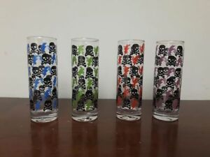 Skull & Bolt 4-13oz Glasses