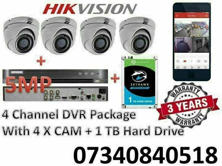 CCTV DVR CAMERA SYSTEM 2MP 3MP 5MP 8MP AHD HD HIKVISION GENUINE UK SPEC 3  YEAR WARRANTY INSTALLED | in Small Heath, West Midlands | Gumtree
