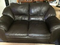 Leather Sofas, one three seater & one two seater, good condition