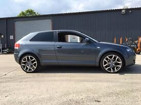 Audi A3, Grey, late 2004 model (sold with standard wheels)