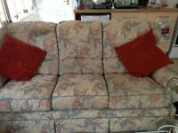 FREE 3 Seater sofa and 2x arm chairs MUST GO!