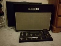 Line 6 Flextone iii with FBV Floorboard