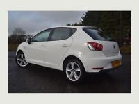 SEAT IBIZA 1.4 WHITE PETROL 5DR 2014 (LOW MILEAGE)