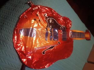 Mylar Guitar Balloon - all you need is the helium