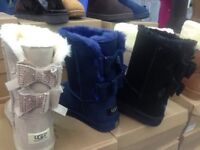 Glitter bow ugg boots