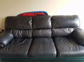 3 seat leather sofa, fairly good condition, £40