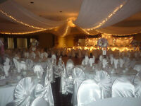 Chair covers and Tablecloth rentals for cheap!