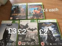 xbox 360 games lego minecraft etc