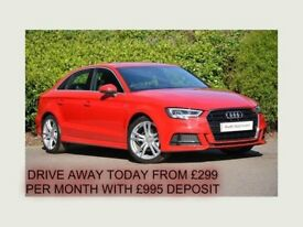 JULY 2014 AUDI A3 2.0 TDI 150 BHP S-LINE 4 DOOR SALOON ALLOYS PRIVACY B/TOOTH FINANCE AVAILABLE