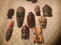 Tribal Masks, fraom Hawaii/Carribean/Africa